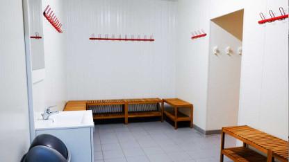 Le dôme du Foot espace vestiaires et douches